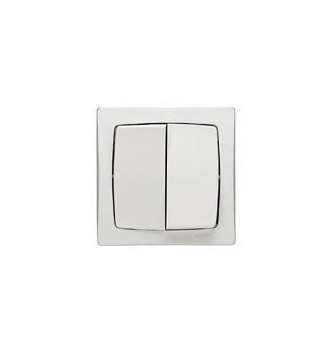 Interrupteur Double va-et-vient Legrand saillie complet - Otéo blanc